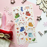 cute christmas stockings candy cane sticker sheet