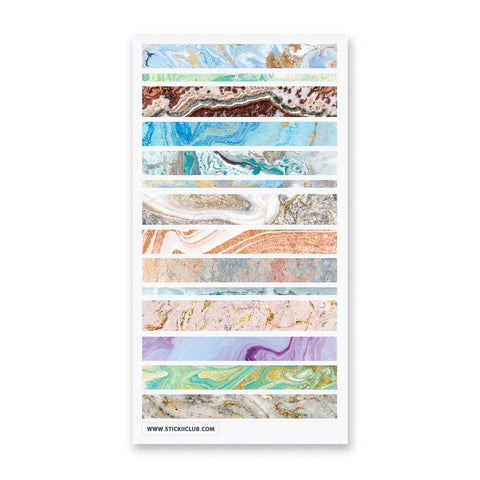 Marbled Washi Strips