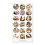 alice in wonderland mad hatter tea party sticker sheet