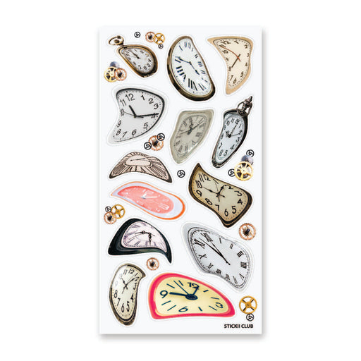 time clock watch stop sticker sheet