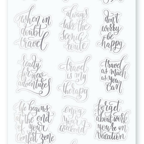 quotes be happy sticker sheet