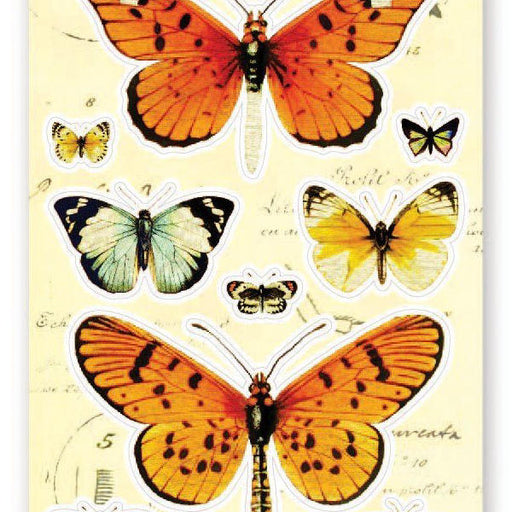 vintage victorian butterflies butterfly collection sticker sheet