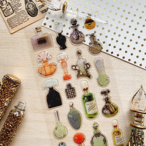 perfume bottle beauty products glass sticker sheet epoxy