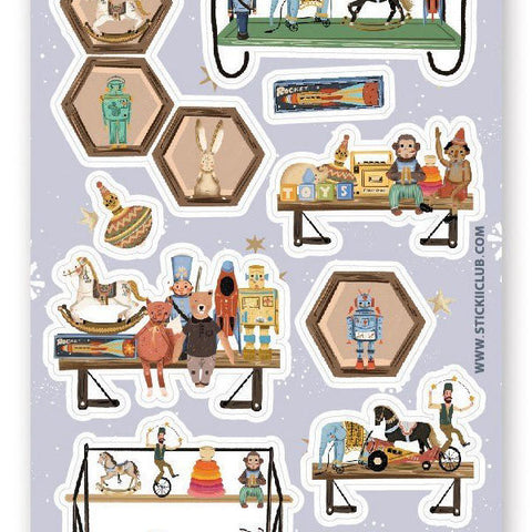 vintage toys children sticker sheet