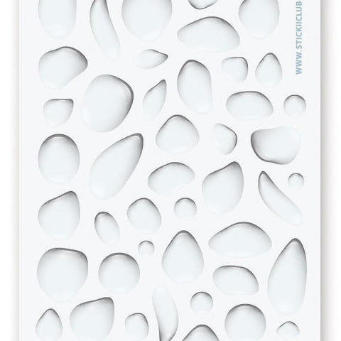 water droplet sticker sheet