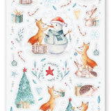 winter christmas snowman snow sticker sheet