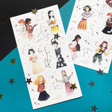 stars zodiac girls sticker sheet