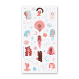 zodiac women ladies stars space sticker sheet