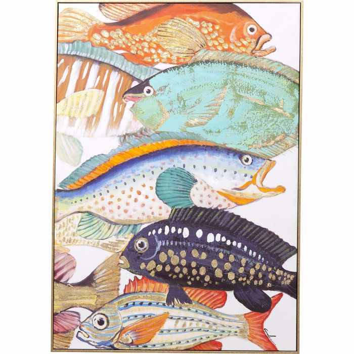 FISH MEETING TWO Canvas