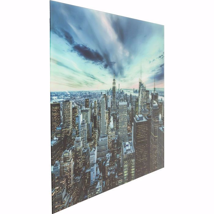 NEW YORK SUNSET Glass Picture