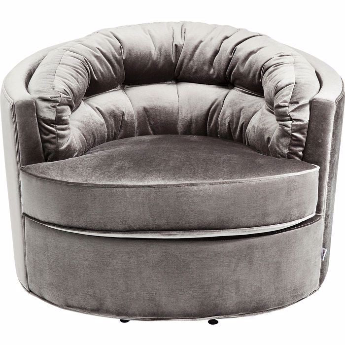 Music Hall Swivel Chair - Grey