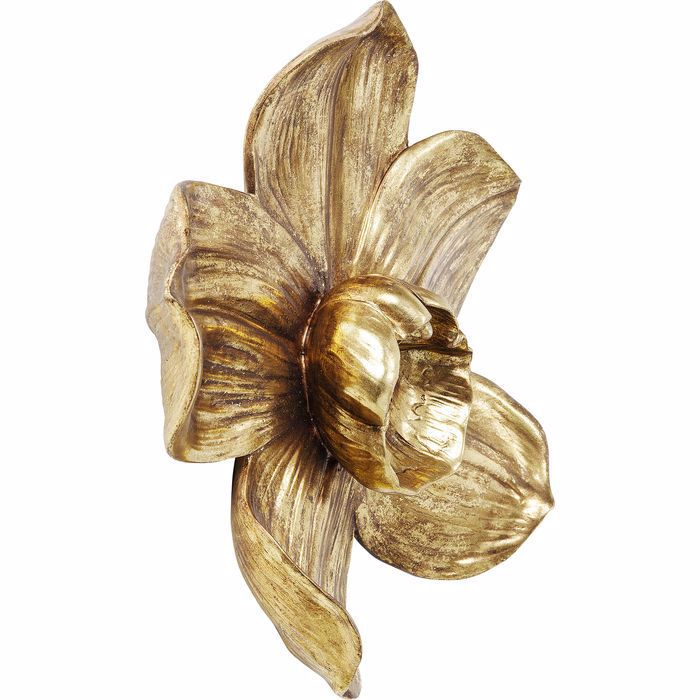 Orchid 44 Wall Decoration - Gold