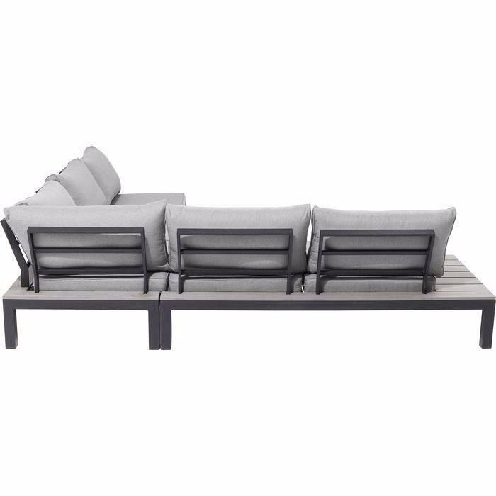 Holiday 4 Piece Outdoor Sofa Set - Black
