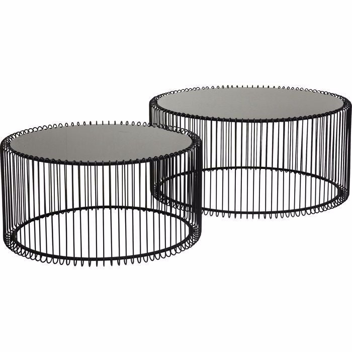 Wire Coffee Table Set - Black