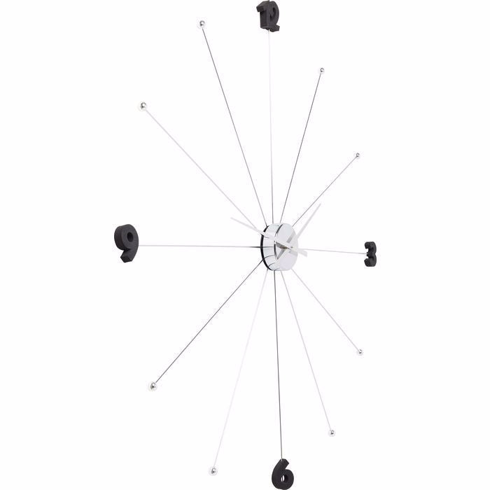 Umbrella Like Wall Clock - Chrome