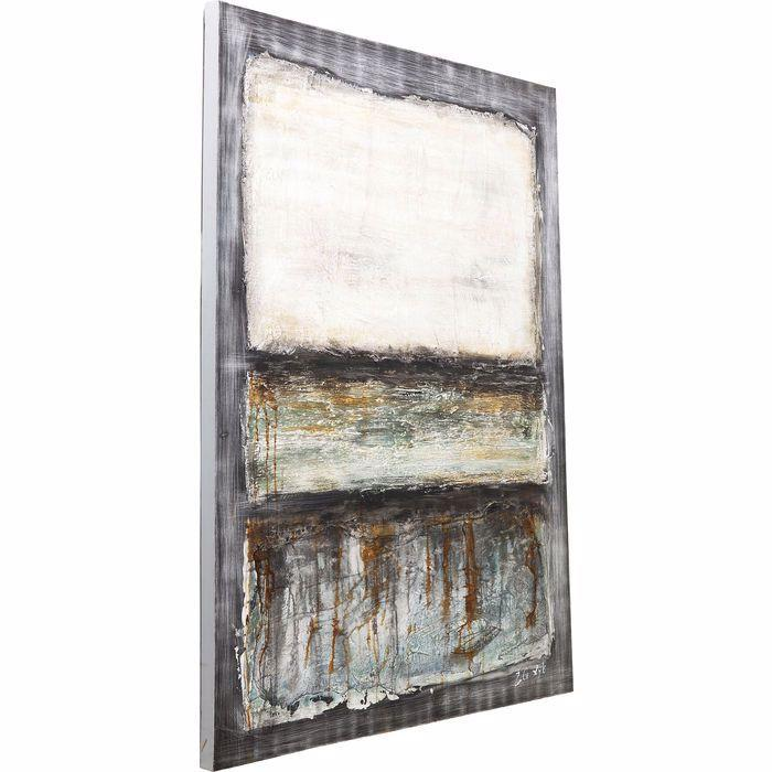 Abstract Grey Line One Painting