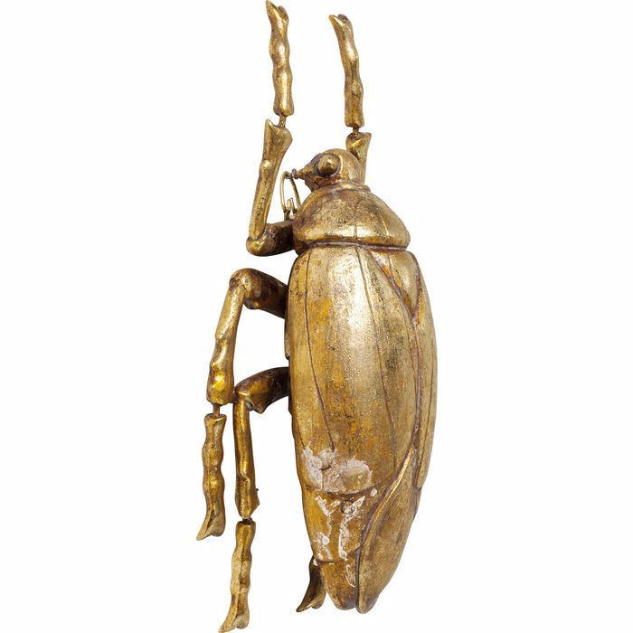 Plant Beetle Wall Decoration - Gold