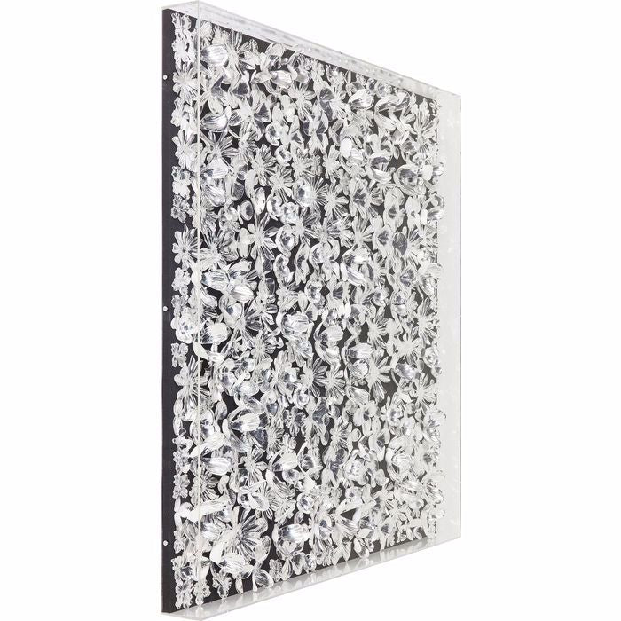 Silver Flower Wall Art