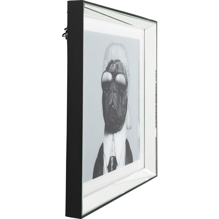 Picture Frame Mirror Designer Dog 60x60