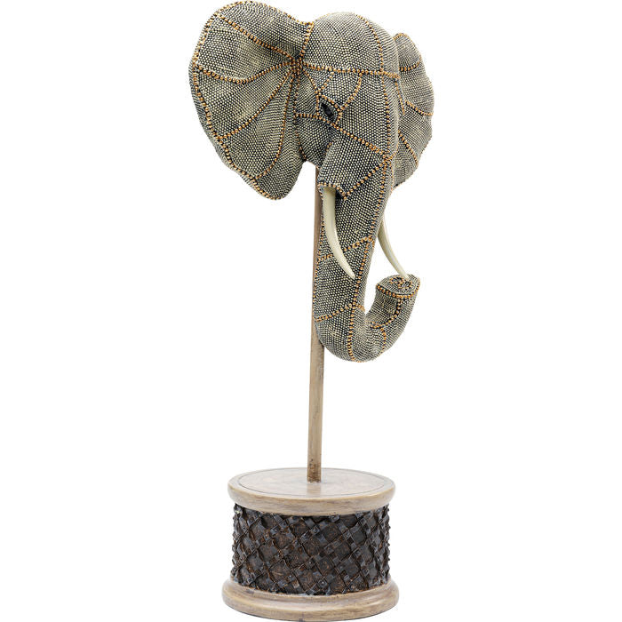 Deco Object Elephant Head Pearls 49