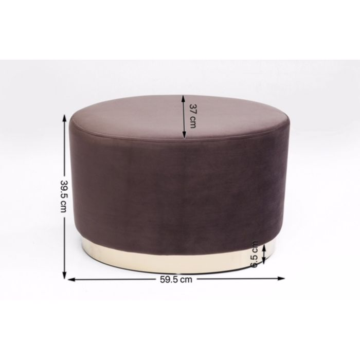 Stool Cherry Eclipse Brown Brass