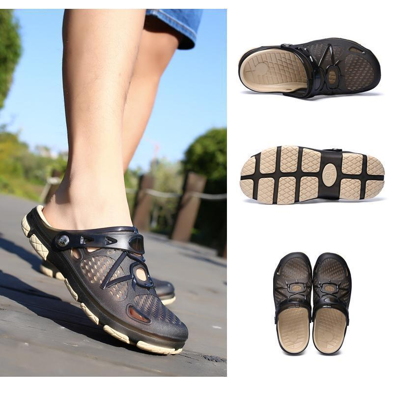 Men's Beach Sandals Breathable Mesh Beach Slipper