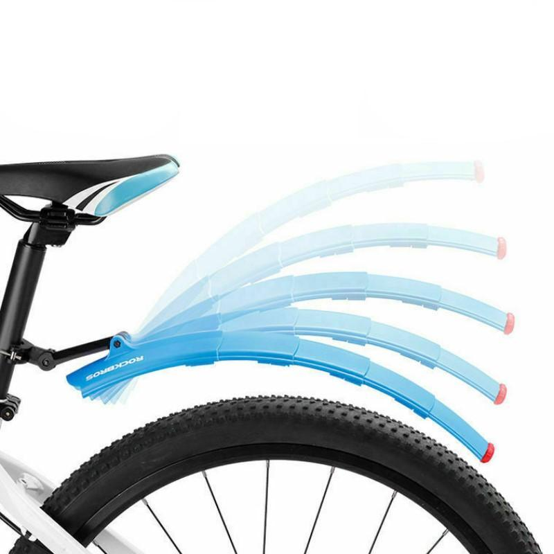 Bicycle Retractable Mudguard with Taillights