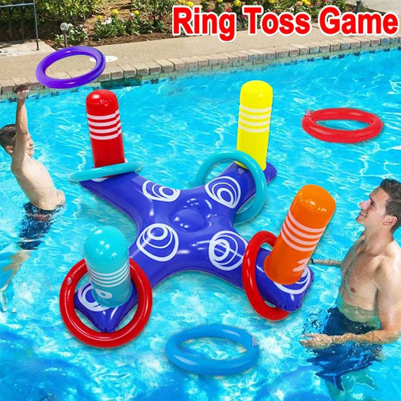 Inflatable Cross Ring Toss Game Swimming Pool Fun Toys
