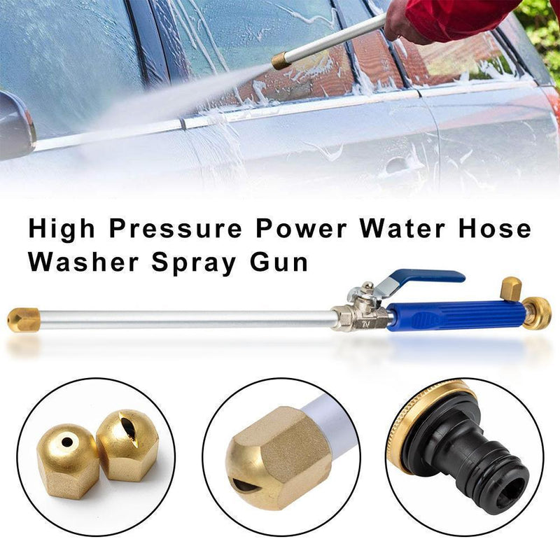 Portable high-pressure water gun for cleaning