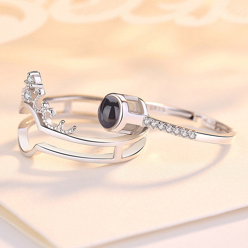 Creative S925 Silver Ring, Bracelet And Puzzle Jewelry Box