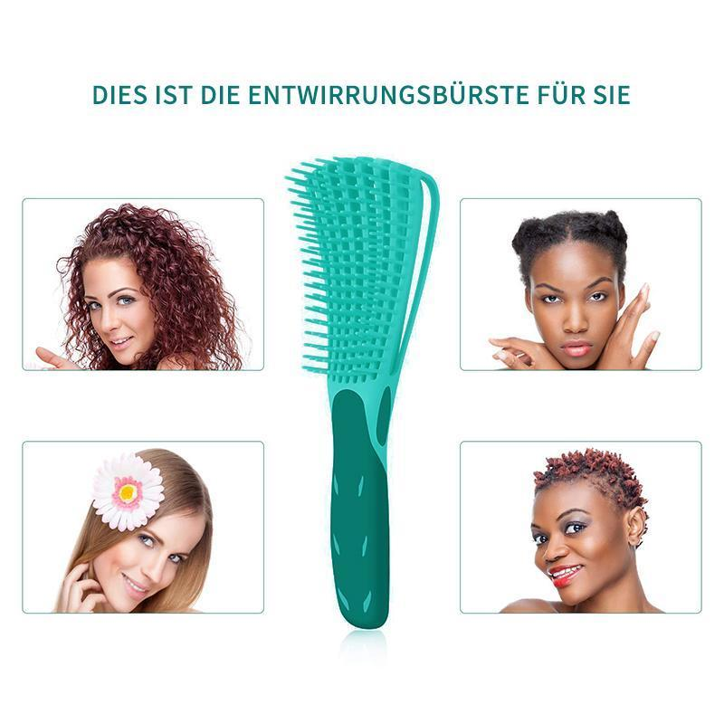Hair brush for straight and curly hair