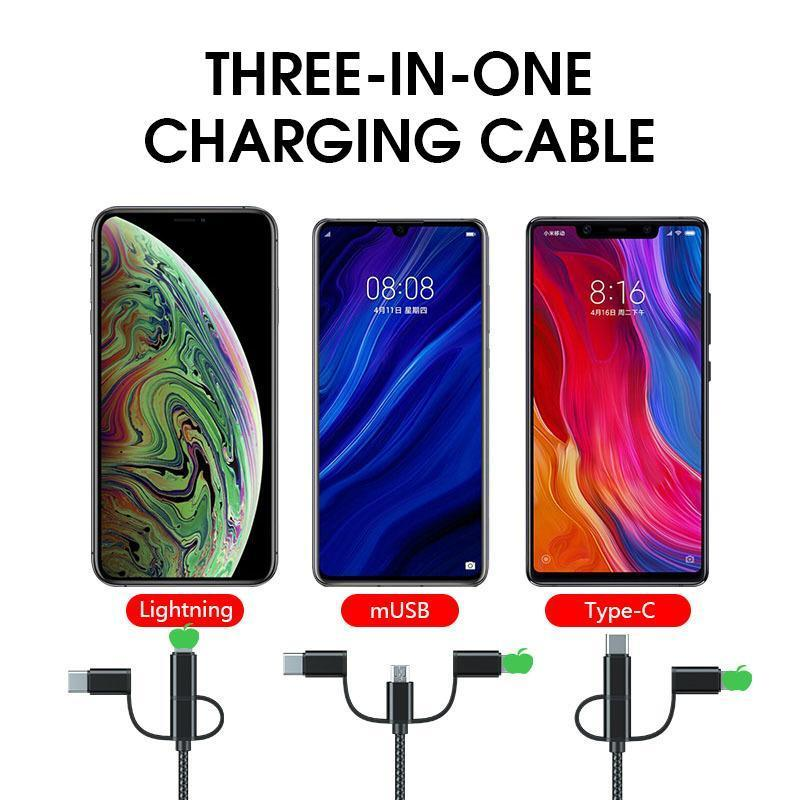 3 in 1 Universal Charger Cable