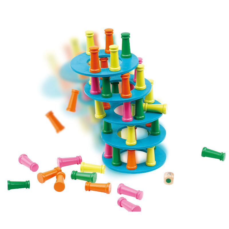 Pisa tower parent-child interactive balance exercise game