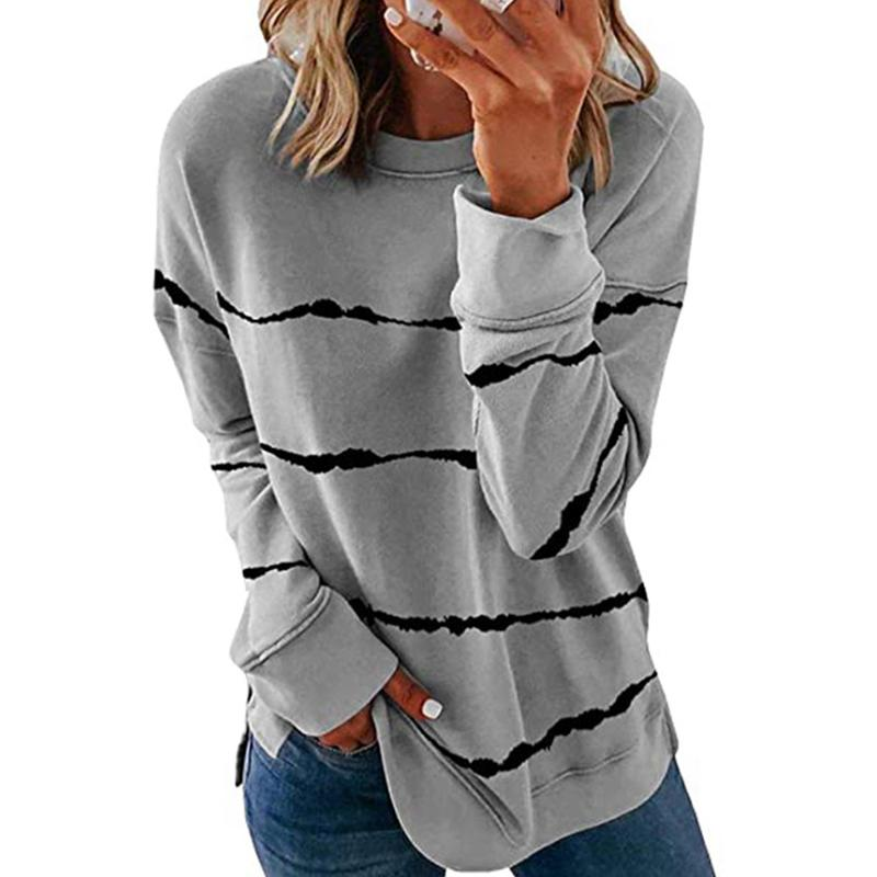 Women Casual Stripe Pullover