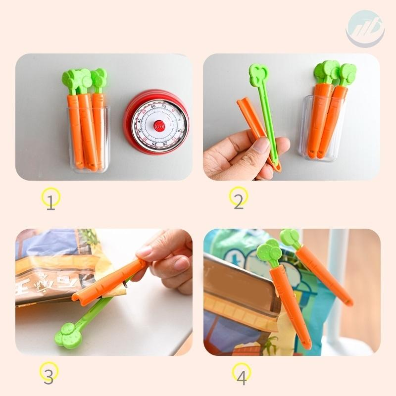 Carrot Food bag sealing clip, 5 PCs