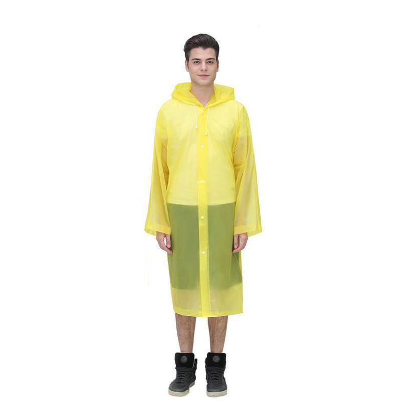 Reusable  Portable Frosted  Raincoat