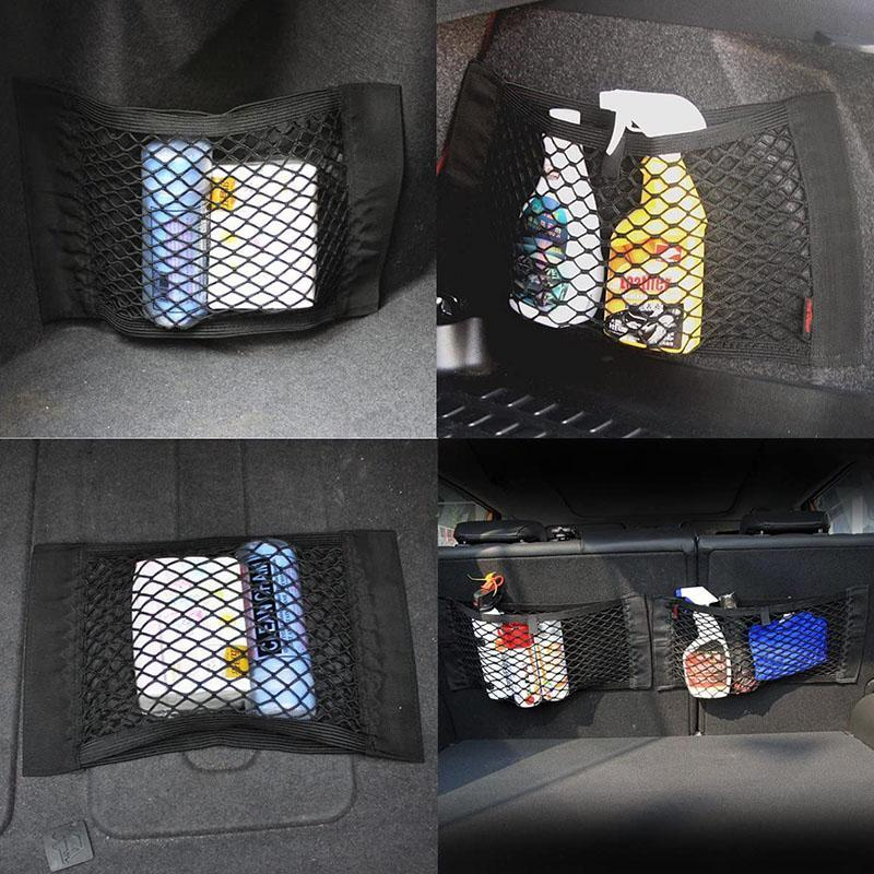 Auto storage mesh pocket