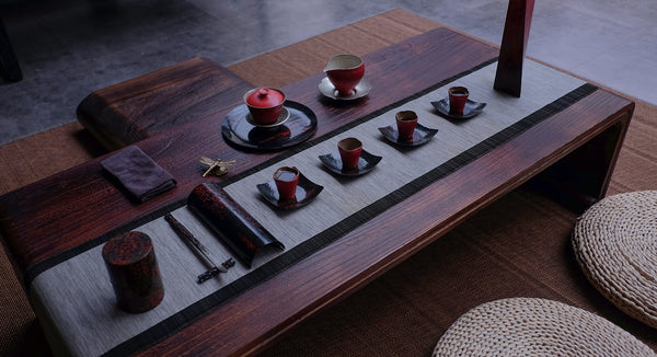 Gaiwan, tea cups, pitcher, tea ceremony