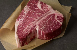 DEPOSIT FOR FATHERS DAY; 2 inch thick Grass Fed Beef Porterhouse $29 lb 1.2 lbs
