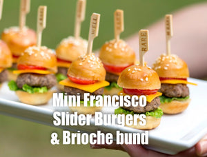 4 mini Francisco's Ultimate Burger slider Patties