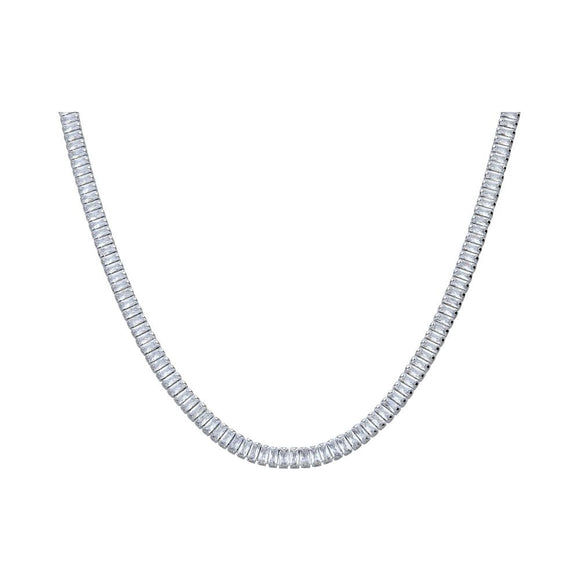 Choker strass in metallo rodiato