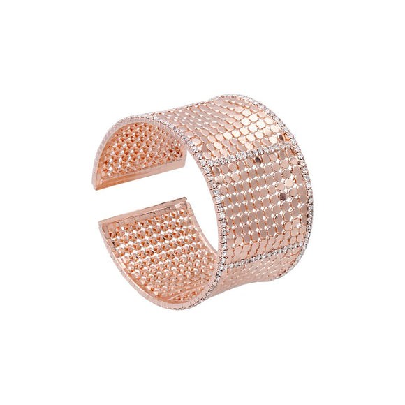 Bangle con strass in metallo rosato