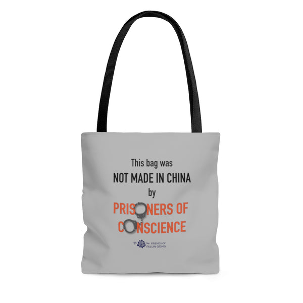 'Not Made in China' Tote in Gray