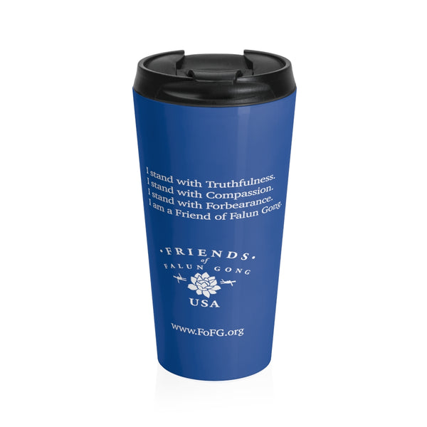 Friends of Falun Gong Stainless Steel Travel Mug