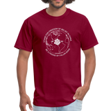 Be a Friend - Men's T-Shirt [Dark] - burgundy