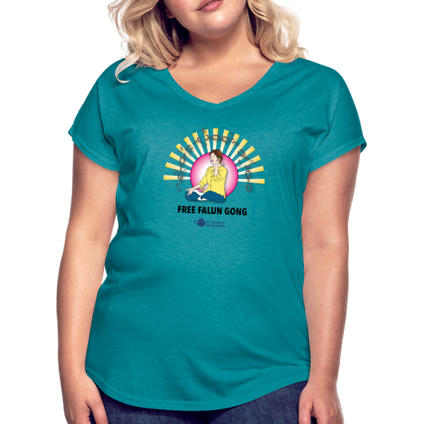 Free Falun Gong - Women's T-Shirt - heather turquoise