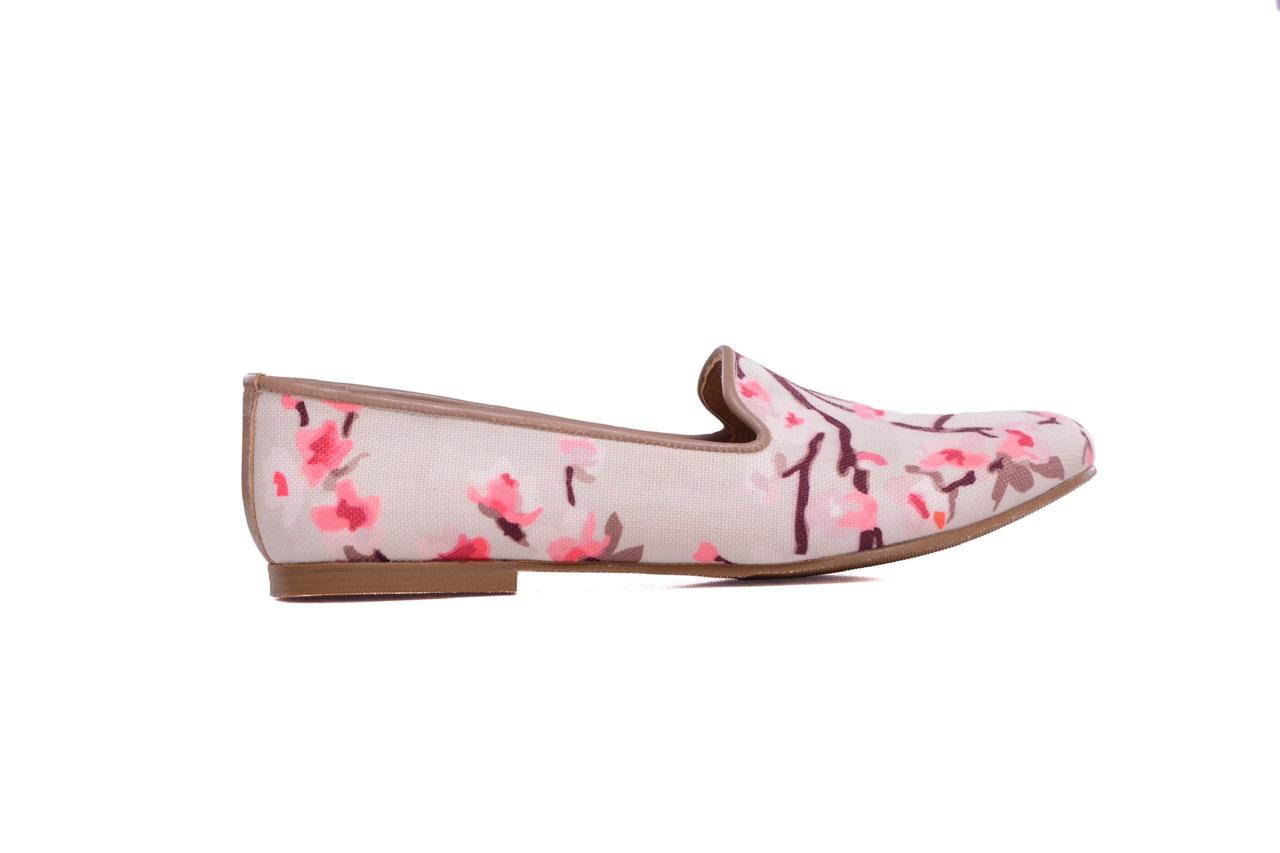 Pink Branches Smoking Slippers