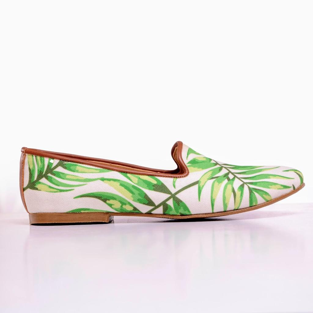 Green Leaves Smoking Slippers