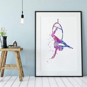 Aerial Hoop Art Watercolor Print - PrintsFinds