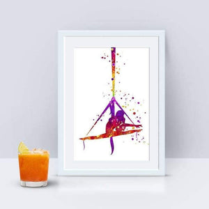 Aerial Silks art print for home decor - PrintsFinds